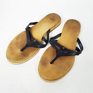 Ugg Annice flip flop thong black sandals size US 7